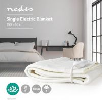 Nedis Electric Blanket | 80 x 150 cm | 3-Heat Settings | Indicator Light | Overheat protection, PEBL