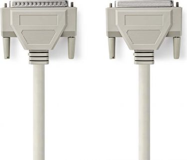 Nedis Serial Cable | D-Sub 25-pin Male - D-Sub 25-pin Female | 5.0 m | Ivory, CCGP52110IV50