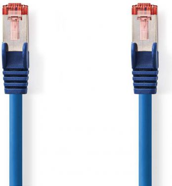 Nedis Cat 6 S/FTP Network Cable | RJ45 Male - RJ45 Male | 1.0 m | Blue, CCGP85221BU10