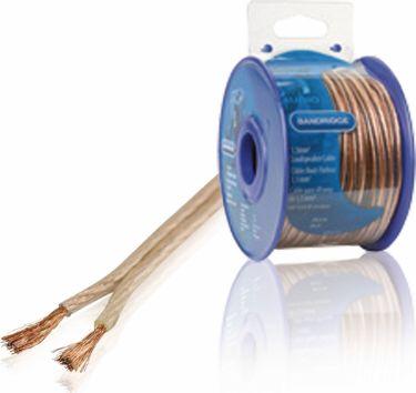Bandridge Speaker Cable on Reel 2x 1.50 mm² 20.0 m Transparent, BRM1520