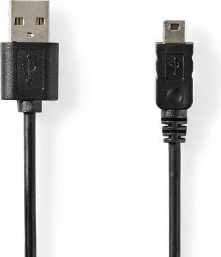 Nedis USB 2.0-kabel   A-hanstik – mini 5-benet hanstik   2,0 m   Sort, CCGT60300BK20