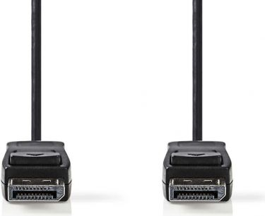 Nedis DisplayPort 1.2 Cable   DisplayPort Male - DisplayPort Male   3.0 m   Black, CCGB37010BK30