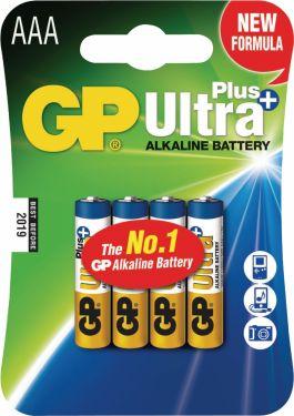GP Alkaline Batteri Aaa 1.5 V Ultra+ 4-Bobler, 03024AUP-U4