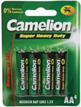 "<span class=""c10"">Camelion -</span> Camelion Zink Carbon AA/R6 1,5V / 1200mAh (4 stk.)"