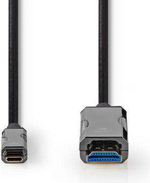 Nedis USB Type-C™ til HDMI®-kabel | AOC | Type-C™-hanstik - HDMI™-stik | 5,0 m | Sort, CCBG6410BK50