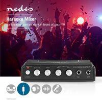 Nedis Karaoke Mixer-sæt | 2 mikrofoner medfølger | Sort, MIXK050BK