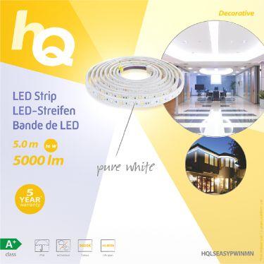 HQ LED Strip 36 W Ren Hvid 5000 lm, HQLSEASYPWINMN