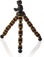 Nedis Mini Tripod | Max 2.5 kg | 30.0 cm | Flexible | Black / Orange, GPOD3210BK