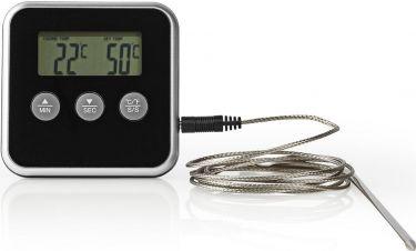 Nedis Meat Thermometer | 0 - 250 °C | Digital Display | Timer, KATH105BK