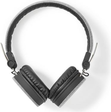 Nedis Fabric Wired Headphones | On-Ear | 1.2 m Audio Cable | Grey / Black, FSHP200GY