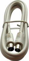 Kabel, Triax Coax Cable Coax Male - Coax Female Straight 1.5 m White, 153500