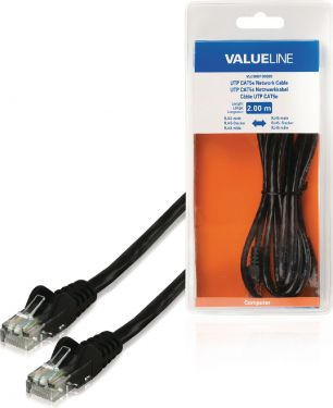 Valueline CAT5e UTP Network Cable RJ45 (8P8C) Male - RJ45 (8P8C) Male 2.00 m Black, VLCB85100B20