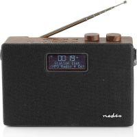 Nedis Digital DAB+ Radio | 15 W | FM | Bluetooth® | Brown / Black, RDDB4320BN
