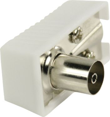 Valueline Coax Connector Female White, VLSP40920W
