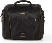 Nedis Camera Shoulder Bag | 250 x 210 x 170 mm | 3 Inside pockets | Black / Orange, CBAG220BK