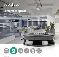 Nedis Conference Speaker | 2.5 W | Touch Control | USB-Powered | Black, CSPR10010BK
