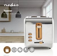 Nedis Toaster | 2 Wide Slots | Soft-Touch | White, KABT510EWT
