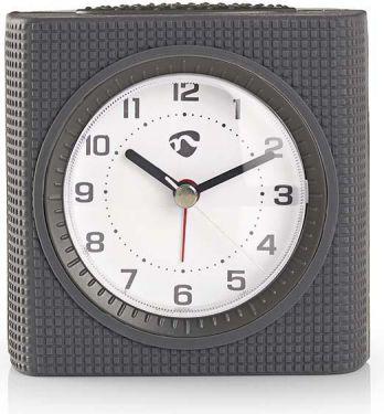 Nedis Analogue Desk Alarm Clock | Light | Grey, CLDK004GY