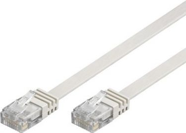 """<span class=""""c9"""">GOOBAY -</span> UTP netværkskabel, FLAD 2xRJ45, CAT6, Hvid (10m)"""