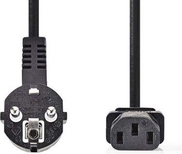 Nedis Power Cable 3 x 1.5 mm²   Schuko Male Angled - IEC-320-C13   3.0 m   Black, CEGP10015BK30