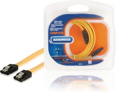 Bandridge Sata 6 Gb /S Kabel Internal SATA 7-Pin Hun - SATA 7-Pin Hun 1.00 m Gul, BCL9401