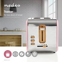 Nedis Toaster | 2 Wide Slots | Soft-Touch | Pink, KABT510EPK
