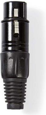 Nedis XLR-stik | XLR 3-benet hunstik | Sort, COTP15902BK
