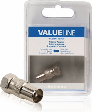 Valueline Coax Adapter XLR F-Male - Coax Male Silver, VLSB41953M