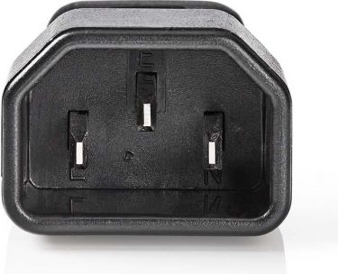 Nedis Power Connector | IEC-320-C14 male - IEC320-C5 female | Black, PCGP11920BK