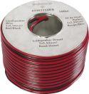 Højttalerkabler, Højttalerledning 2 x 2,5mm² CU, rød/sort (metervare)