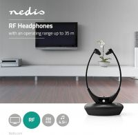 Nedis Trådløse hovedtelefoner   Radiofrekvens (RF)   In-ear   Ladestation   Sort, HPRF010BK
