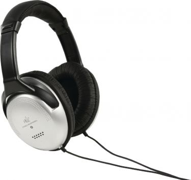 HQ Hovedtelefoner Over-Ear 3.5 mm 6.0 m Sølv/Sort, HQ-HP137HF6