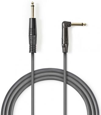 Nedis Unbalanced Audio Cable | 6.35 mm Male - 6.35 mm Male Angled | 5.0 m | Grey, COTH23005GY50