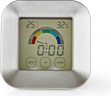 Nedis Hygrometer | Temperature Meter | Time | Touch Screen, KATR105SI