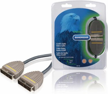 Bandridge SCART Cable SCART Male - SCART Male 3.00 m Blue, BVL7103