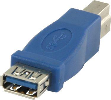 Valueline Usb 3.0 Adapter USB-B Male - USB A Hun Blå, VLCP61900L