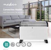 Nedis Konvektionsradiator | Termostat | Blæserfunktion | Timerfunktion | 3 indstillinger | 2000 W |