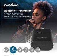 Nedis Trådløs lydtransmitter | Bluetooth® | Op til 2 hovedtelefoner | Sort, BTTR100BK