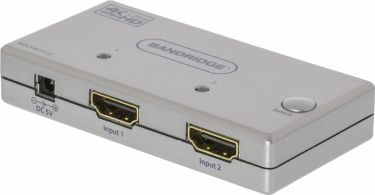 Bandridge 2-Port Ultra HD HDMI Switch Silver, BBVSW3432