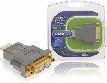 Bandridge High Speed Hdmi-Adapter HDMI-Stik - DVI-D 24 + 1-Pin Hun Grå, BVP100