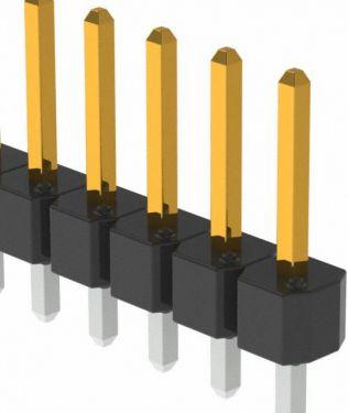 Enkelt-række Pin header Han/han 2,54mm 1x20-ben (H11,6mm)
