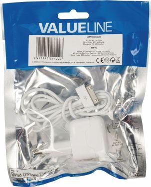 Valueline Vægoplader 2.1 A 2.1 A Apple 30 pin Hvid, VLMP39892W10