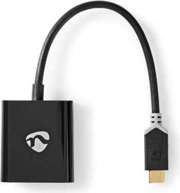 Nedis USB Type-C Adapter Cable | Type-C Male - VGA Female | 0.2 m | Anthracite, CCBP64851AT02