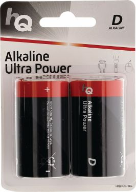 HQ Alkaline Battery D 1.5 V 2-Blister, HQLR20/2BL