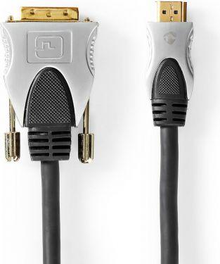 Nedis DVI Cable - HDMI™ | DVI-D 18+1-Pin Male -HDMI™ male | 2.50 m | Black, CCGC34800AT25