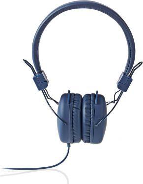 Nedis Hovedtelefoner med kabel   On-ear   Foldbar   1,2 m rundt kabel   Blå, HPWD1100BU