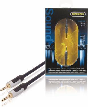 Profigold Stereo Audio Cable 3.5 mm Male - 3.5 mm Male 2.00 m Anthracite, PROA3302