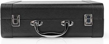 Nedis Turntable | 18 W | Bluetooth® | Suitcase | Black, TURN210BK