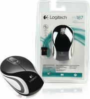 Logitech Wireless Mouse Travel 3-Button Black, M187B