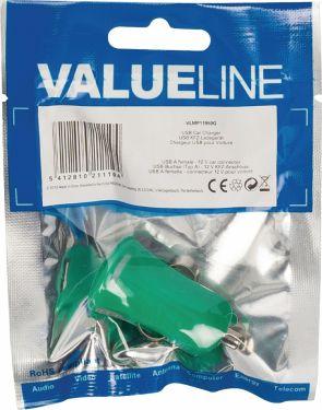 Valueline Biloplader 1-Udgang 2.1 A USB Grøn, VLMP11950G